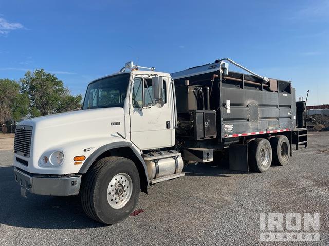 BergKamp Mobile Mix Paver II 600 gal on 1999 Freightliner FL112 6x4 Asphalt Distributor Truck, Asphalt Distributor Truck