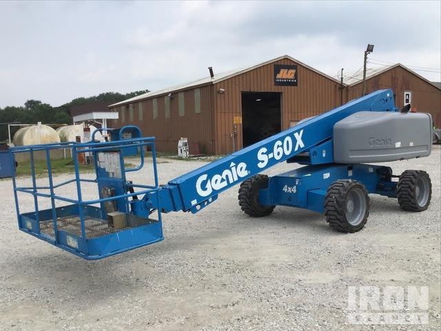 2012 Genie S-60X 4WD Diesel Telescopic Boom Lift, Boom Lift