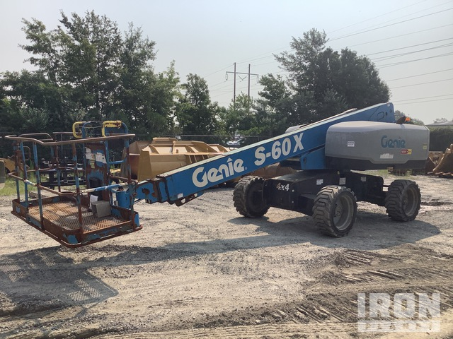 2017 Genie S-60X 4WD Diesel Telescopic Boom Lift, Parts/Stationary Construction-Other
