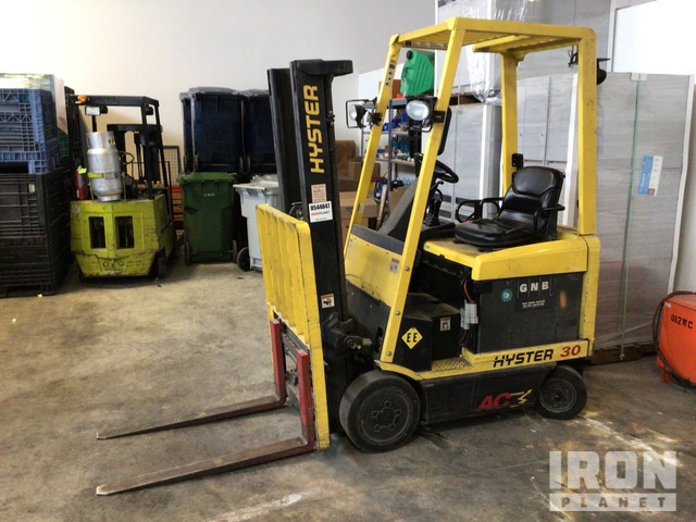 2007 Hyster E30Z 2950 lb Electric Forklift, Parts/Stationary Construction-Other