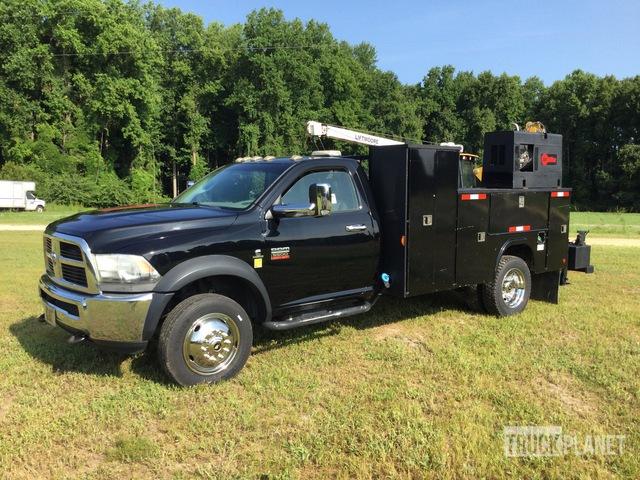 2012 Ram 5500 Heavy Duty S/A Service Truck w/ Crane, Service Truck