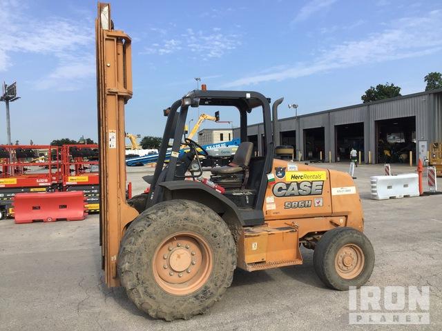 2014 Case 586H 6000 lb 4x2 Rough Terrain Forklift, Rough Terrain Forklift