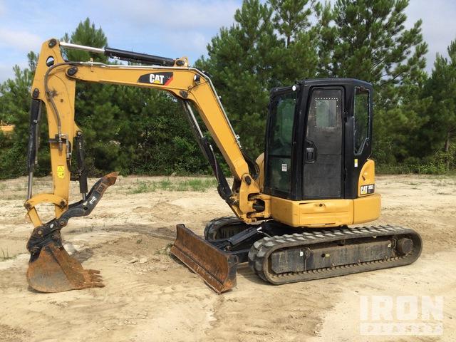 2019 Cat 305E2 CR Mini Excavator w/ 2019 Econoline Equipment Trailer, Mini Excavator (1 - 4.9 Tons)