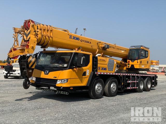 2018 XCMG QY50K 50 ton 8x4x4 Hydraulic Truck Crane, Hydraulic Truck Crane