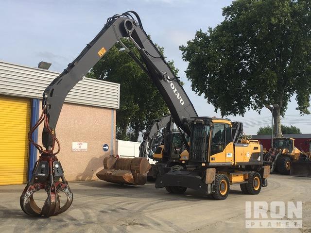 2017 Volvo EW210MH Wheel Excavator, Mobile Excavator