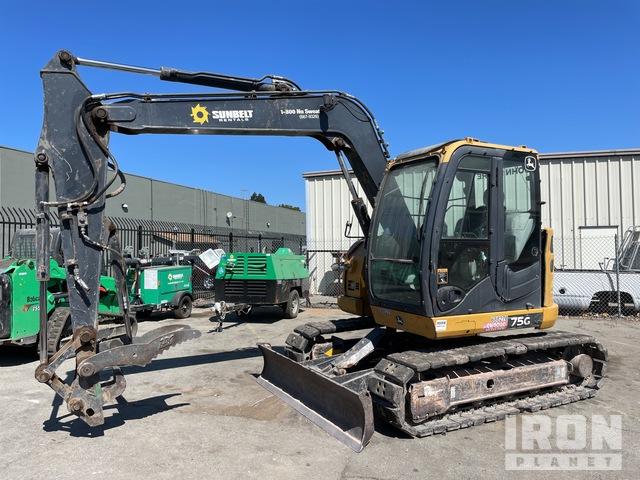 2015 John Deere 75G Mini Excavator, Mini Excavator (1 - 4.9 Tons)