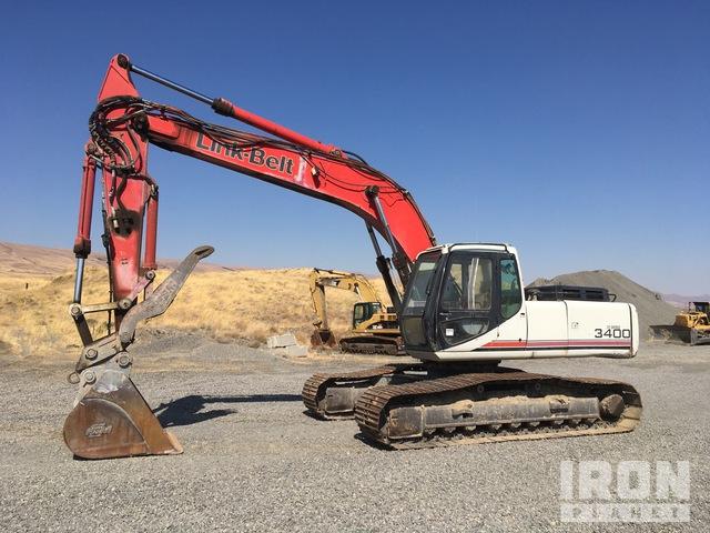 1997 Link-Belt 3400 Track Excavator, Hydraulic Excavator