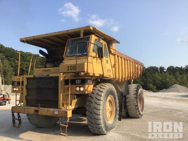 1989 Cat 773B Off-Road End Dump Truck, Rock Truck