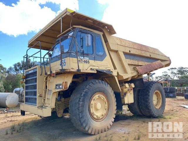1991 Komatsu HD465-5 Off-Road End Dump Truck, Rock Truck