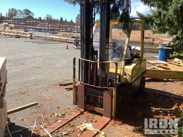 2007 Hyster H60FT 5600 lb Pneumatic Tire Forklift, Parts/Stationary Construction-Other