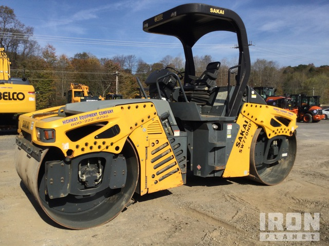 2014 (unverified) Sakai SW770ND Vibratory Double Drum Roller, Roller