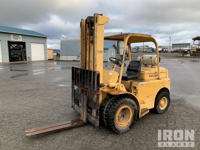 1987 Hyster H60C Pneumatic Tire Forklift, Forklift