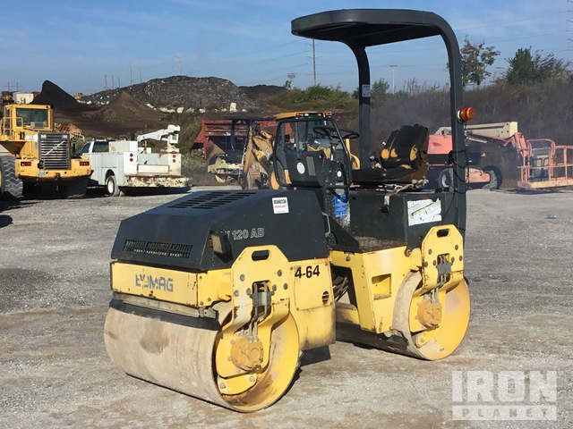 2002 Bomag BW120AD-3 Vibratory Double Drum Roller, Tandem Roller