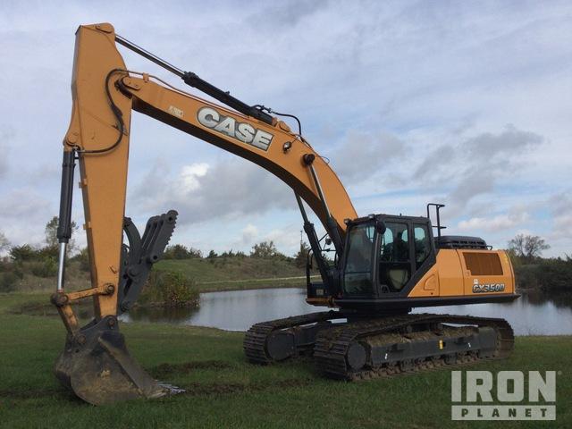 Case CX350D Track Excavator, Hydraulic Excavator