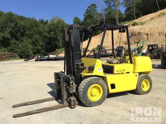 1993 Hyster H80XL 6550 lb Pneumatic Tire Forklift, Forklift