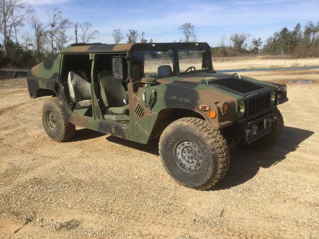 2001 AM General M1043A2 HMMWV 4 Door Hard Top w/Slant Back