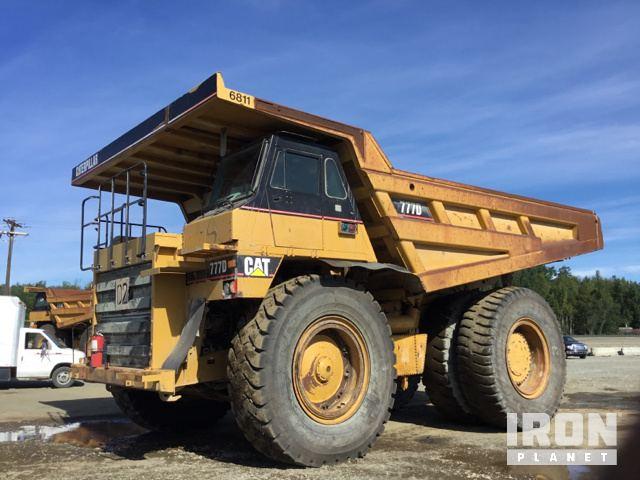 End Dump Truck >> 2005 Cat 777d Off Road End Dump Truck In Wasilla Alaska United