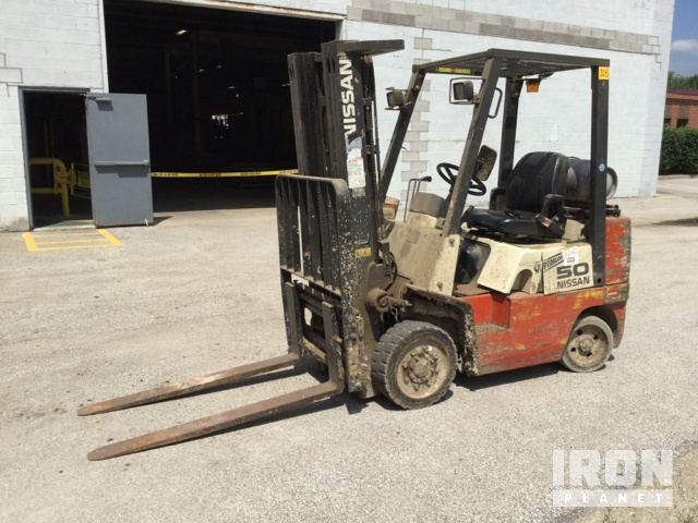 Nissan 50 Cushion Tire Forklift In Aurora Illinois United
