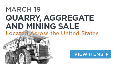 Quarry, Aggregate and Mining Auction, March 19th .Located Across the United States.