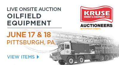 Kruse Energy and Equipment Auction, PITTSBURGH, PA • June 17th & 18th, 2015