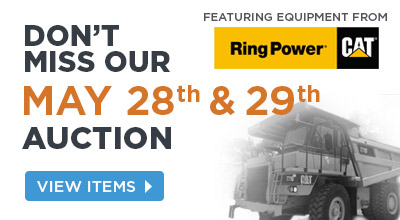 May 28 & 29 Auction featuring Ring Power