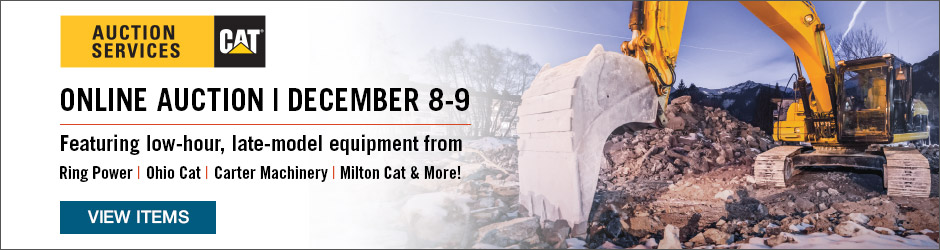 December 7-9 Equipment and Truck Auction