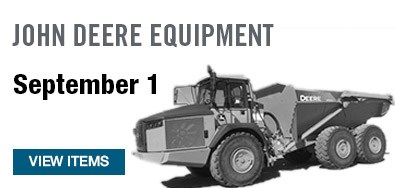 John Deere Equipment September 1 Auction