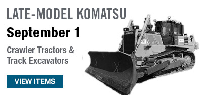 Late-Model Komatsu Equipment