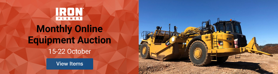 Iron Planet Monthly Online Equipment Auction October 15-22