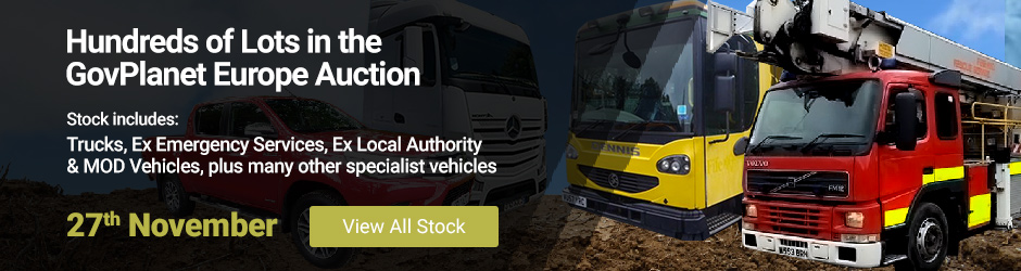 GovPlanet Europe Auction | 27th November