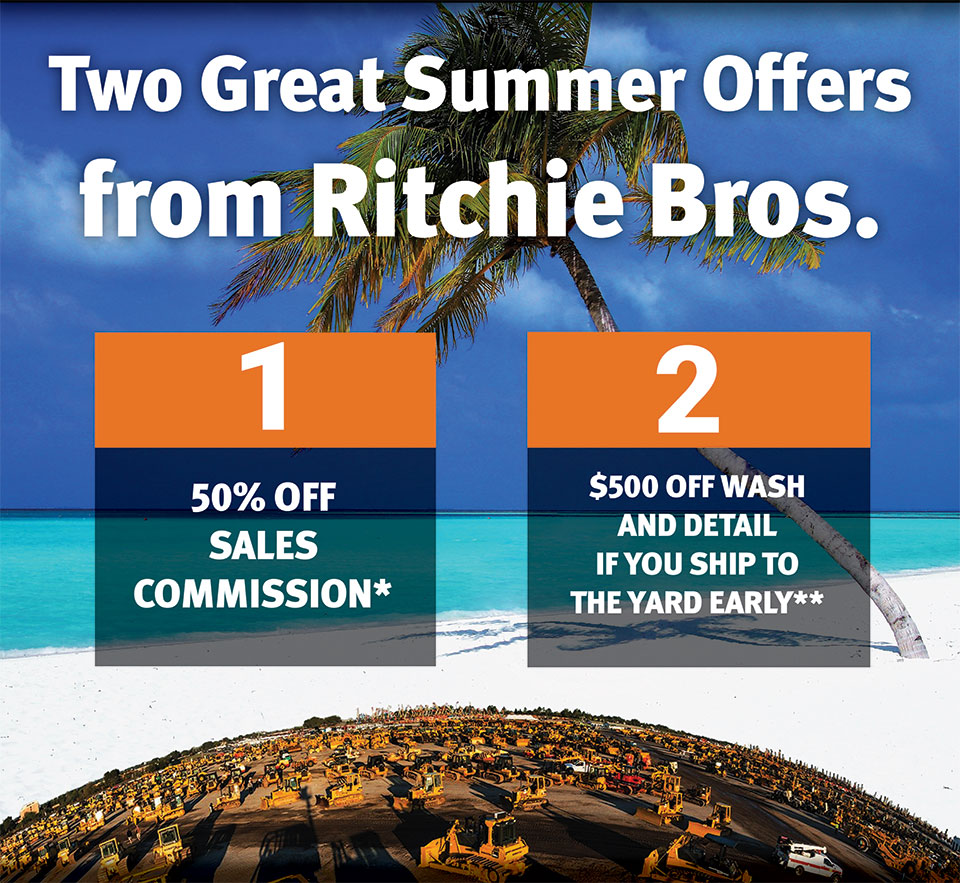 Two Great Offers from Ritchie Bros. Auctioneers.
